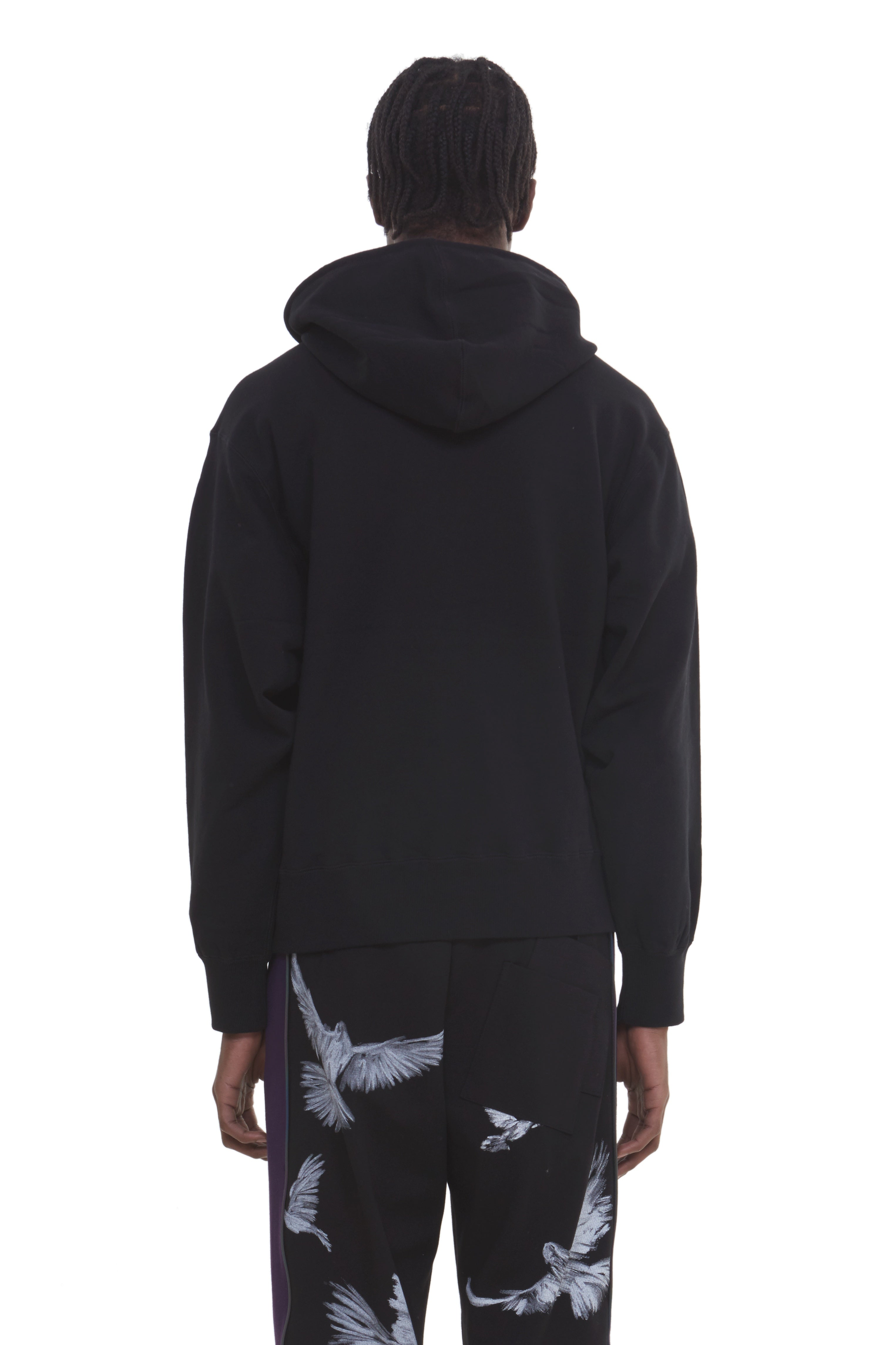 MARIA RELEASED BIRD HOODED SWEATER