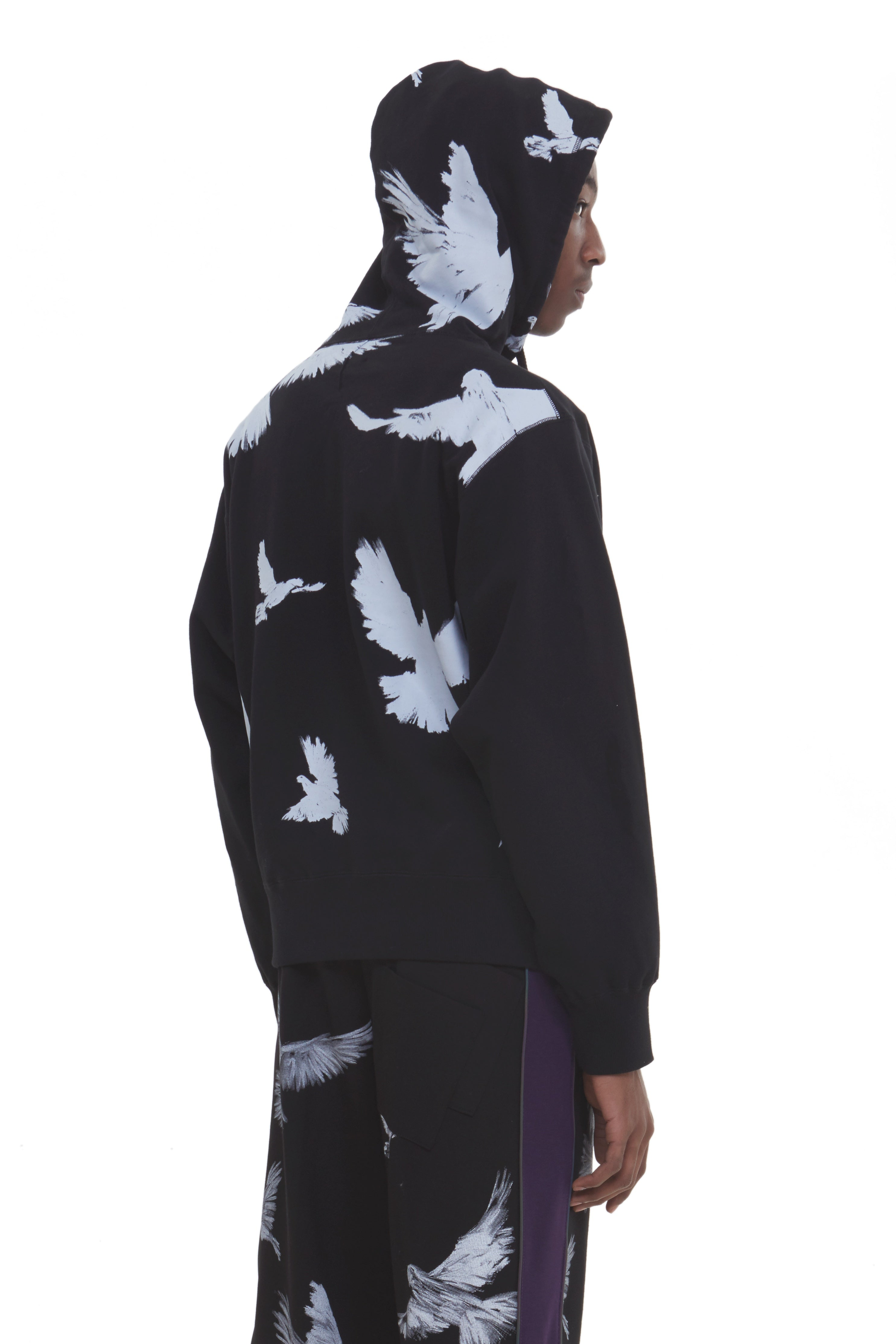 MARIA FLYING BIRDS HOODED SWEATER