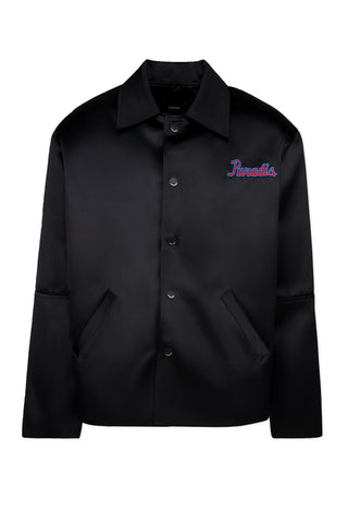 BLACK MONOGRAM LONG SLEEVE WORKWEAR SHIRT
