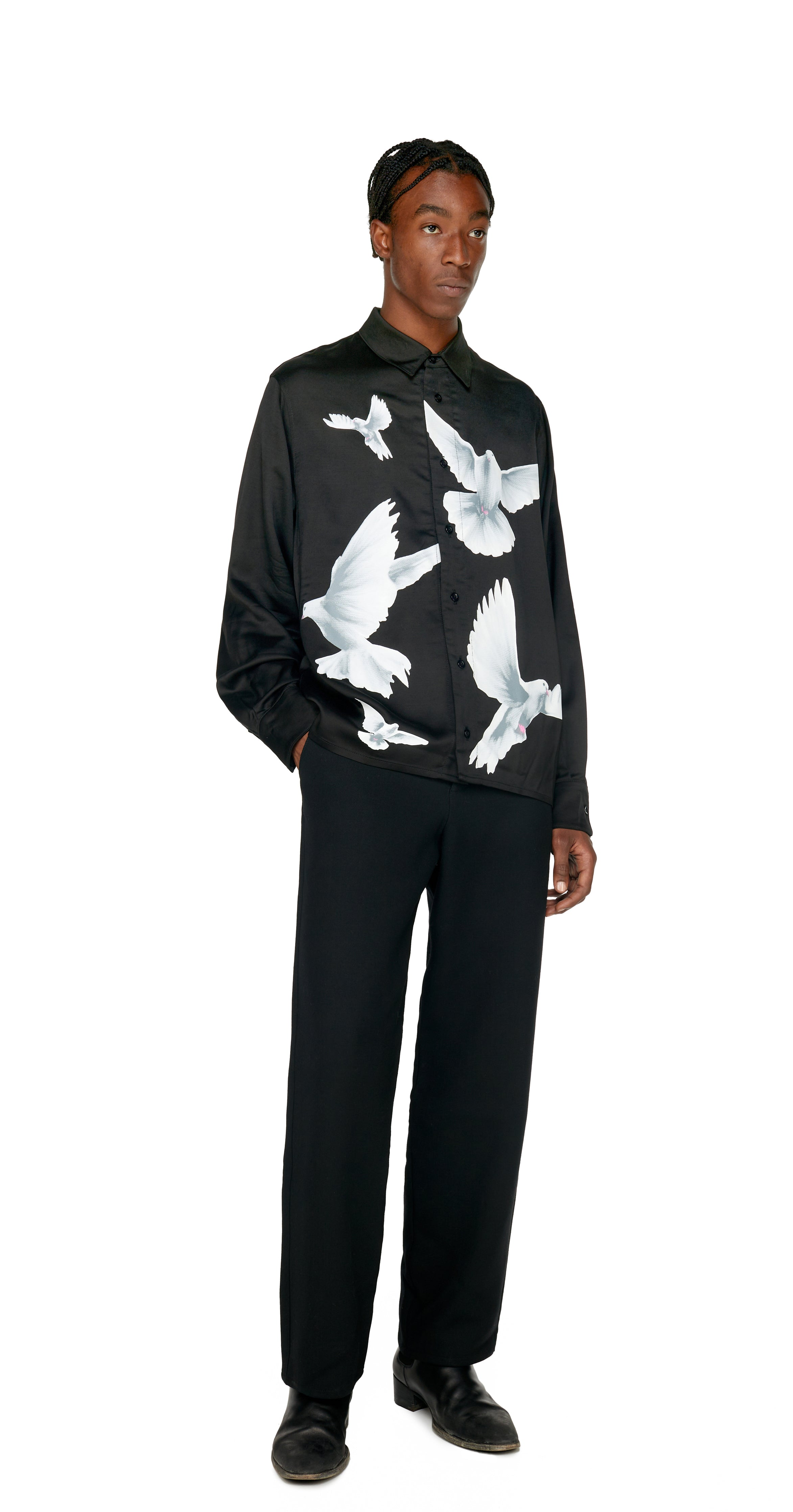 DESIREE BIRDS BLACK SHIRT