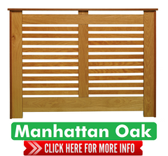 Manhattan Range Oak Radiator Covers