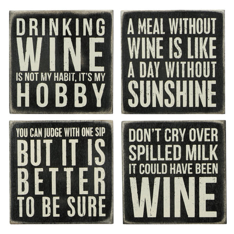 Box Sign Coasters - Wine
