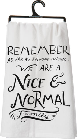 Dish Towel - Nice and Normal
