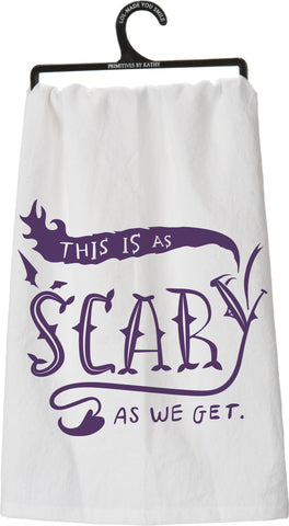 Dish Towel - As Scary
