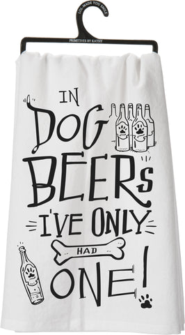 Dish Towel - Dog Beers