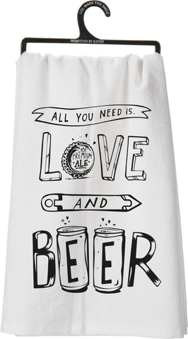 Dish Towel - Love and Beer
