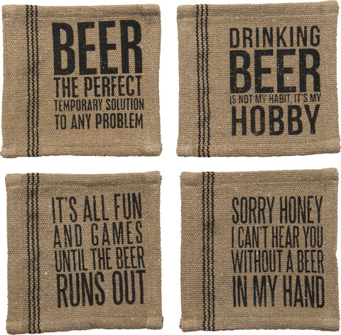 Fabric Coasters - Beer