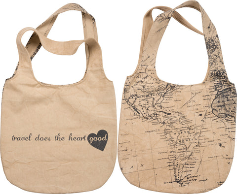 Canvas Tote - Travel Does