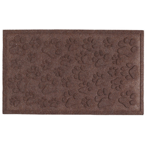 PAW PRINTS MOLDED DOORMAT