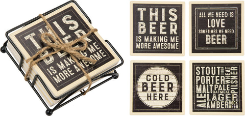 Stone Coaster Set - Beer