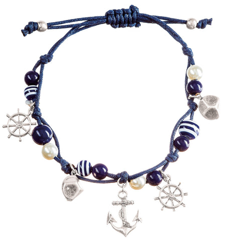 SILVER NAUTICAL ANKLET