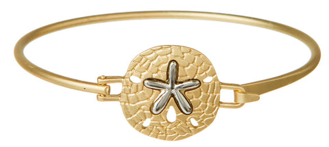 GOLD SHELL WITH STARFISH BRACELET