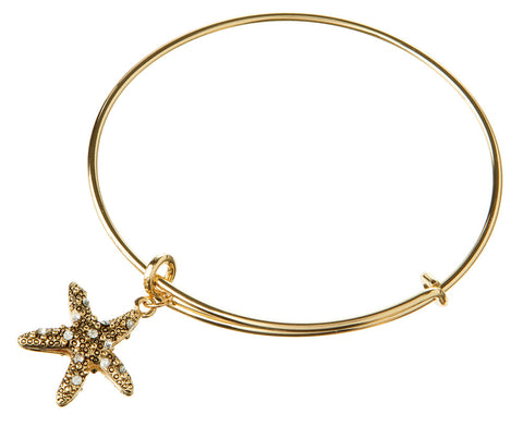 ANTIQUE GOLD STARFISH EXPANDABLE BANGLE