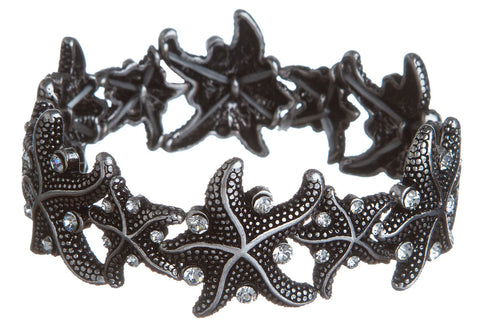 SILVER STARFISH WITH CRYSTAL BRACELET