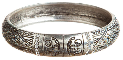 SILVER TRIBAL BANGLE BRACELET