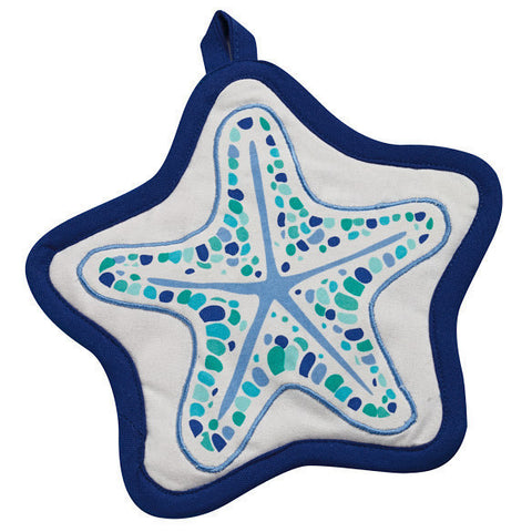 BLUE SEA STAR POTHOLDER GIFT SET