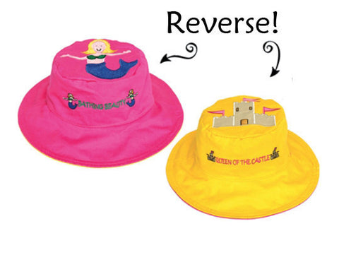 Kids Reversible Hat | Mermaid | Sandcastle