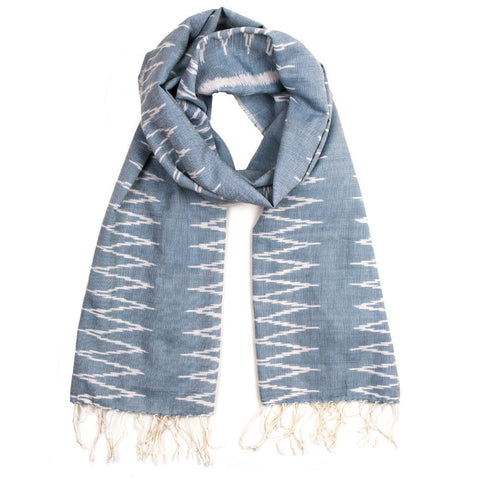 Fair Trade | Handmade in Cambodia | Cotton Ikat Scarf