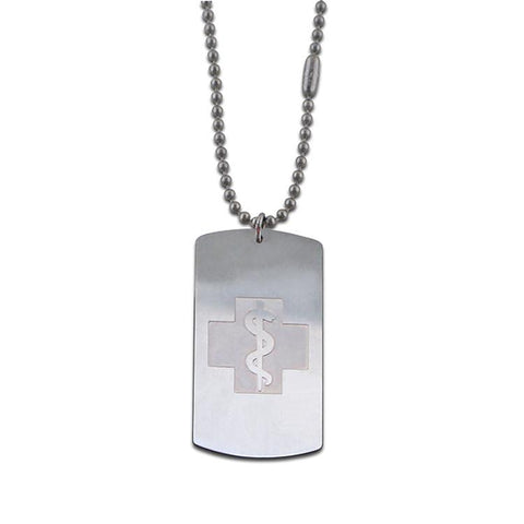 NEW! Military Style Dog Tag Necklace - Dog Tag Emblem