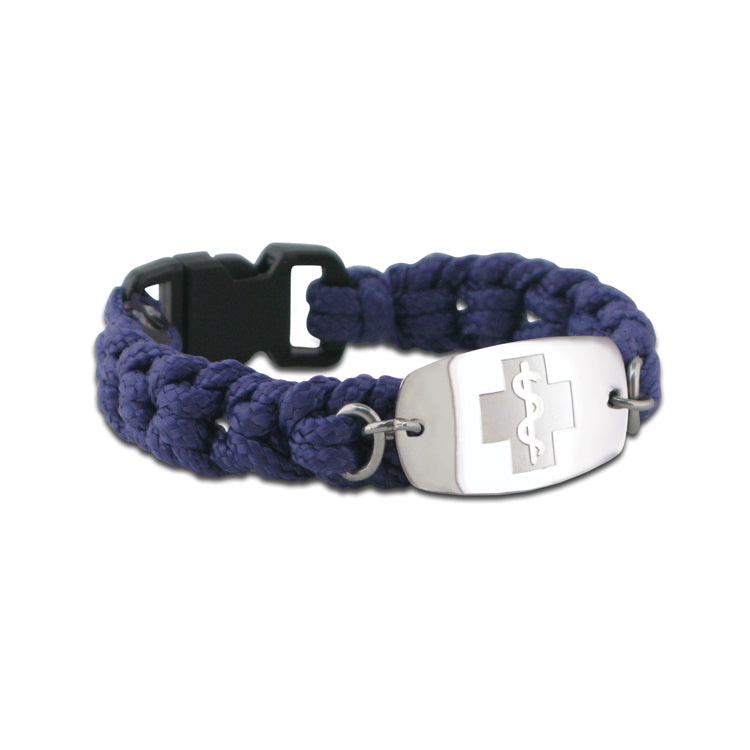 NEW! Paracord Bracelet - Small Emblem - Buckle Closure - Purple