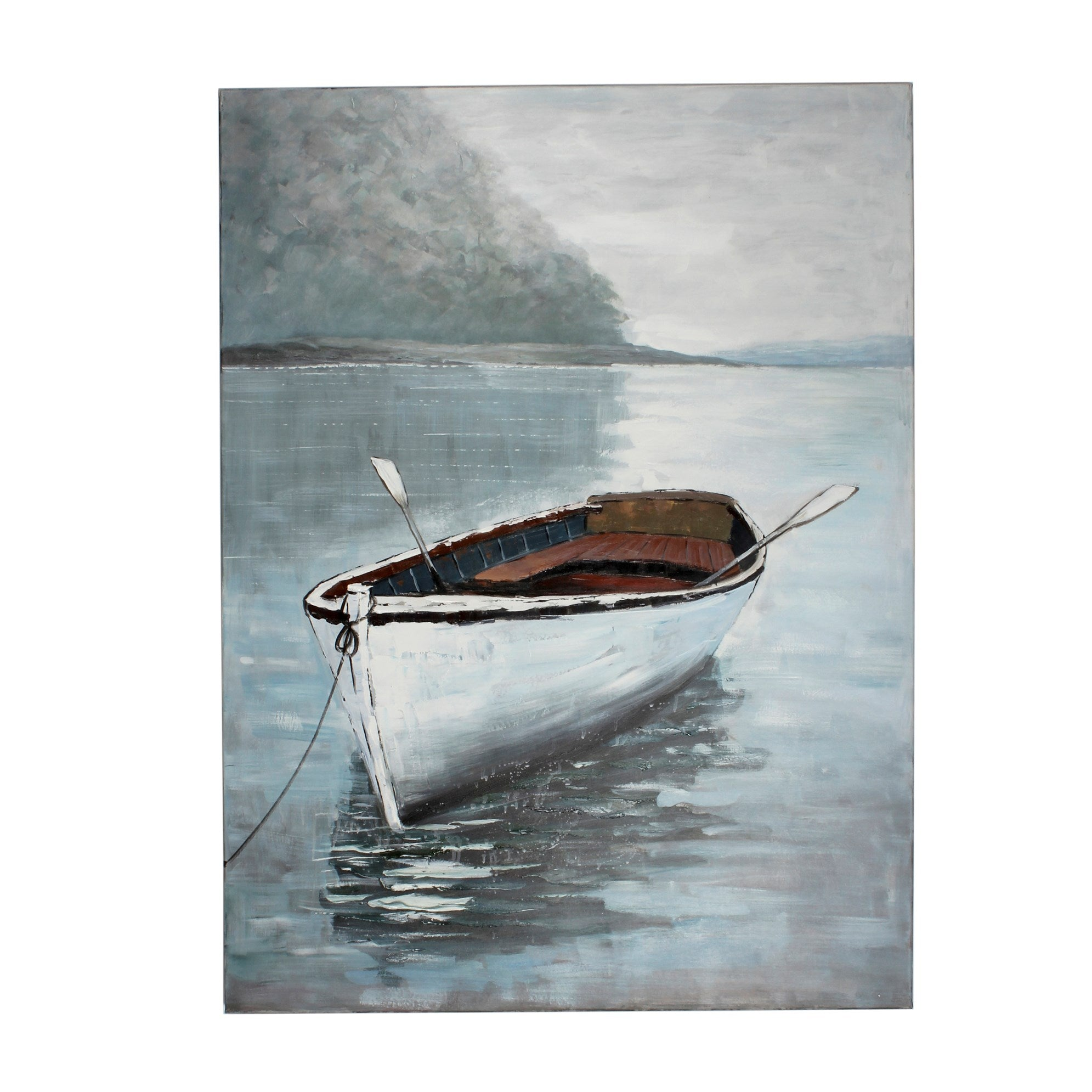 CJM WALL CANVAS ART WHITE BOAT
