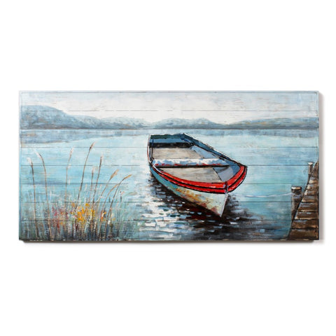 CJM WALL ART BOAT ON LAKE