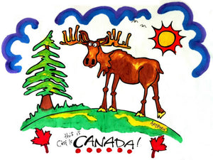 ARTBURN - KIDS THIS IS CANADA - MOOSE PILLOWCASE PAINTING KIT