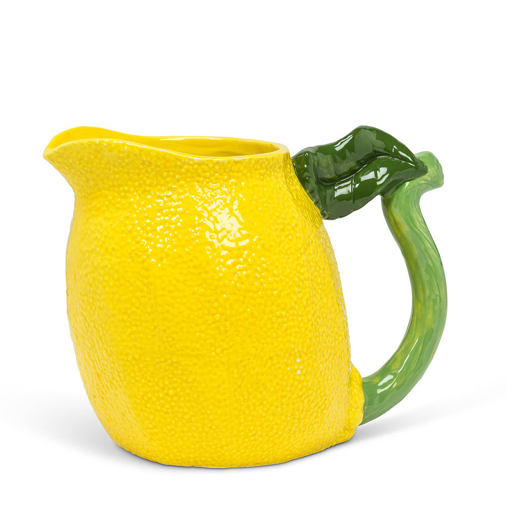 ABBOTT - LEMON JUG WITH LEAF HANDLE