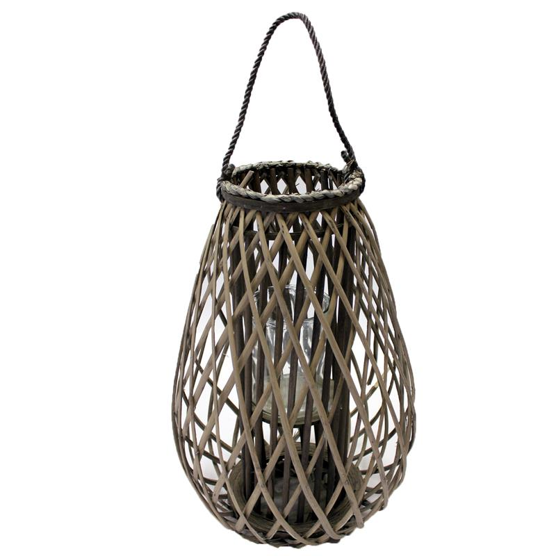 Small Willow Candle Lantern Teardrop
