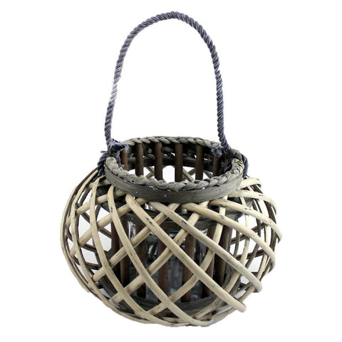 Medium Willow Candle Lantern Round