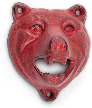 Growling Red Bear Bottle Opener