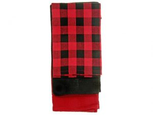 IHCASA - KITCHEN TOWEL (3PC) SET RED BUFFALO CHECK
