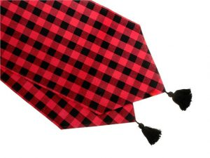 "IHCASA - RED BUFFALO CHECK 54"" TABLE RUNNER"