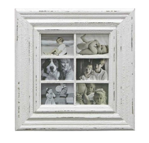SPLASH - WHITE DISTRESSED WINDOW FRAME.