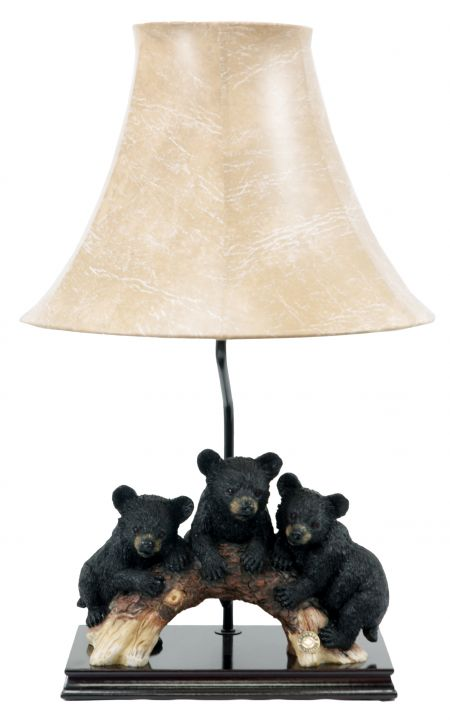 3 Bear Cubs Branch Table Lamp