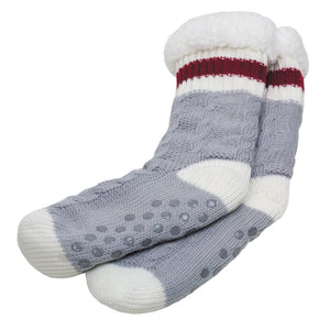 SIMI - CABLE KNIT LONG WORK INDOOR SOCKS