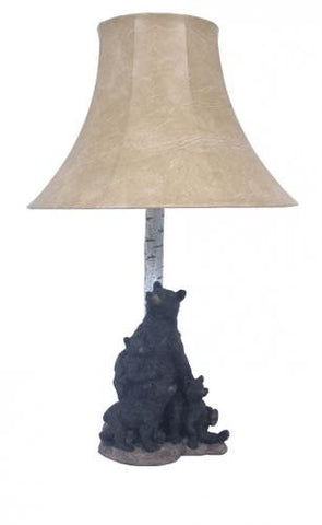 Birch Tree with Bear & Cubs Table Lamp