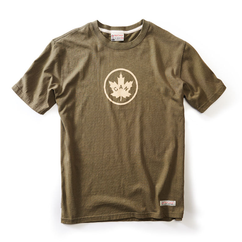 RED CANOE - CANADIAN T-SHIRT OLIVE