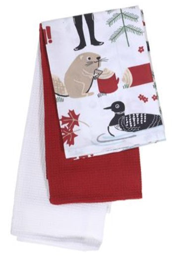 IHCASA - CANADIANA SET OF 3 DISH TOWELS