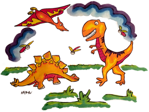 ARTBURN - KIDS DINOSAURS PILLOWCASE PAINTING KIT