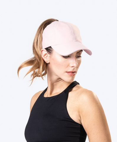 Pink Top Knot Cap