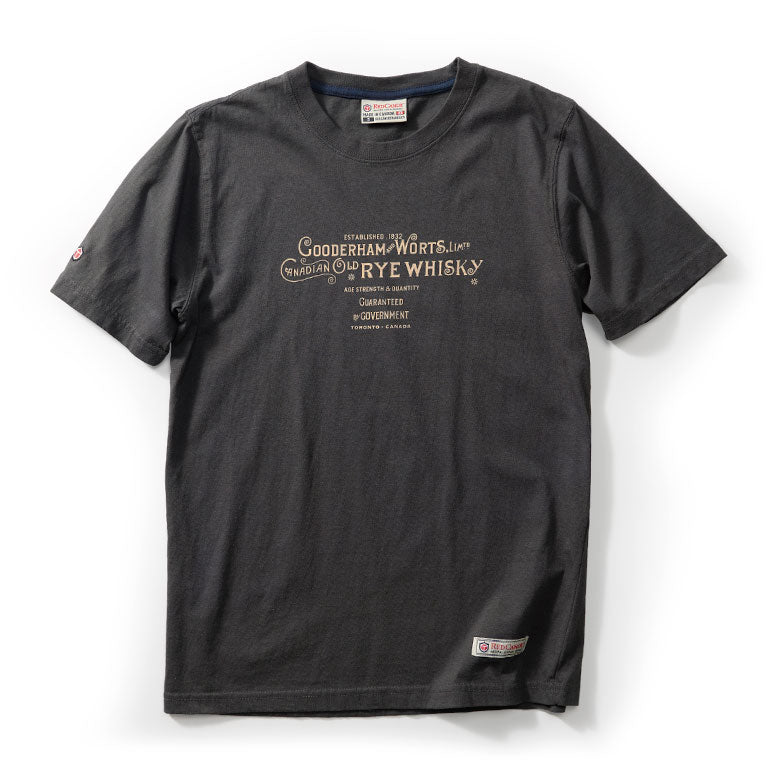 RED CANOE - GOODERHAM & WORTS T-SHIRT SLATE