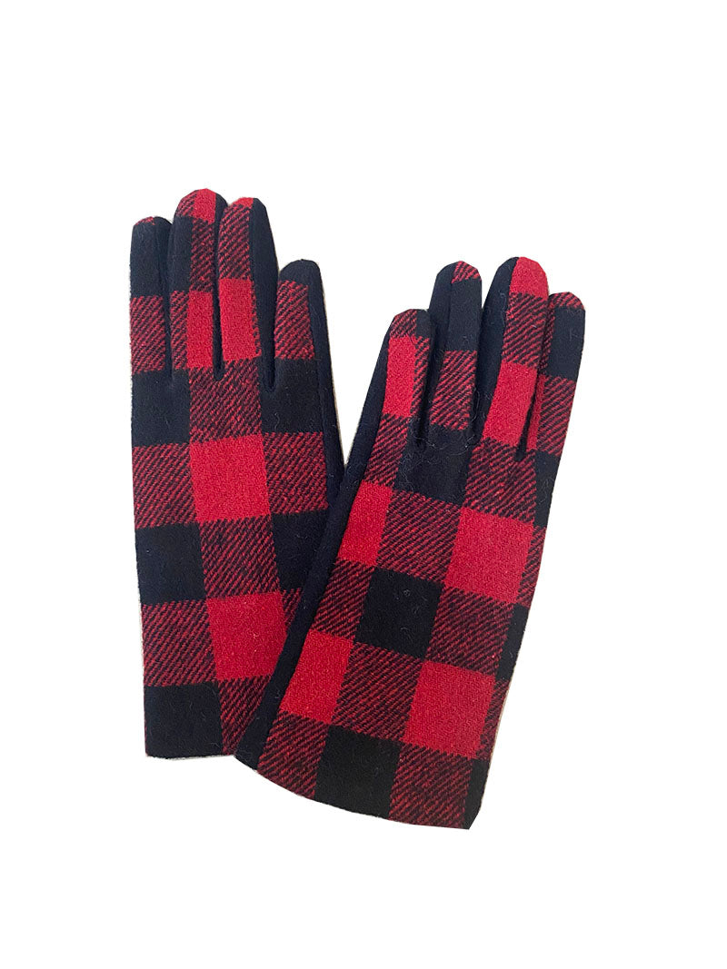AU CLAIR - BUFFALO PLAID GLOVES