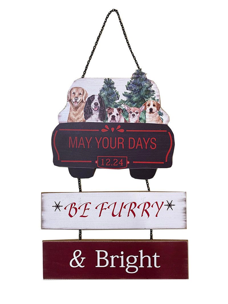 FR KOPPER - MAY YOUR DAYS BE FURRY & BRIGHT PET PLAQUE