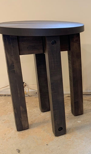 "*FLOOR MODEL* RUFFSAWN - ADIRONDACK 18"" ROUND TABLE"