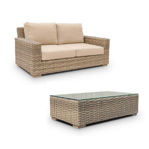 ENCLOVER - JASMINE 1 X LOVE SEAT 1 X COFFEE TABLE 2 X CLUB CHAIRS