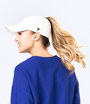 White Top Knot Cap