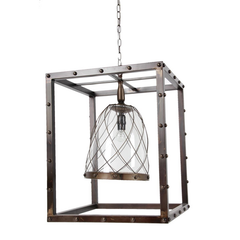 Metal Frame Hanging Light