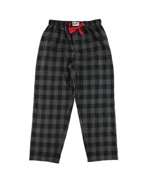 LAGO - PJ PANTS GREY PLAID FLANNEL