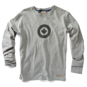RED CANOE - RCAF LONG SLEEVE T-SHIRT GREY